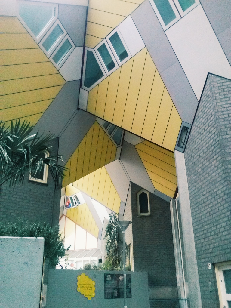 Cube houses up close. Yes, there are people living inside.