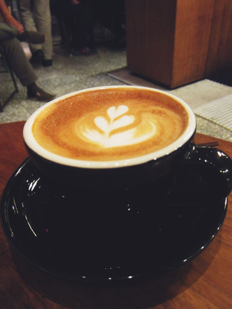 Our hot cappuccino. We immediately gulped down the iced cappuccino before taking a photo hehe